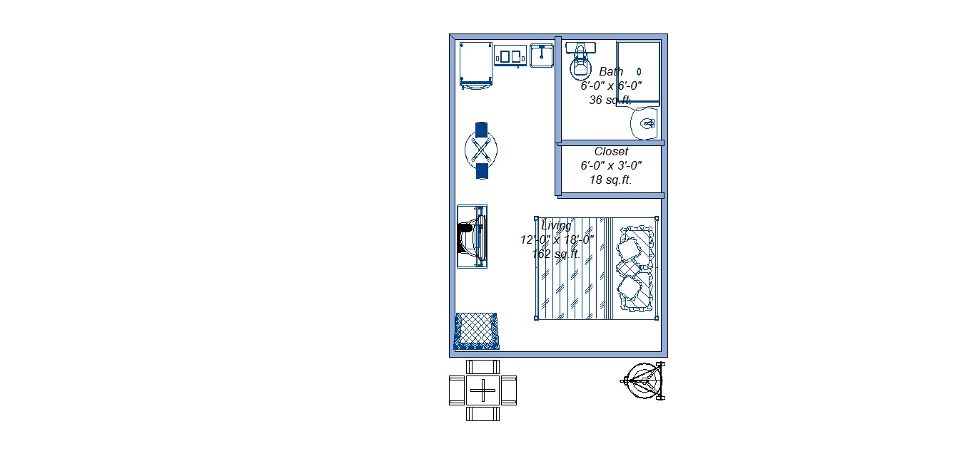 Floor Plan for Close to Wallowa River, easy walk to lake